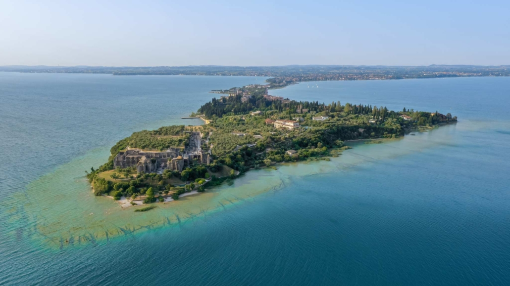 Lugana in the distance behind the Sirmione peninsula