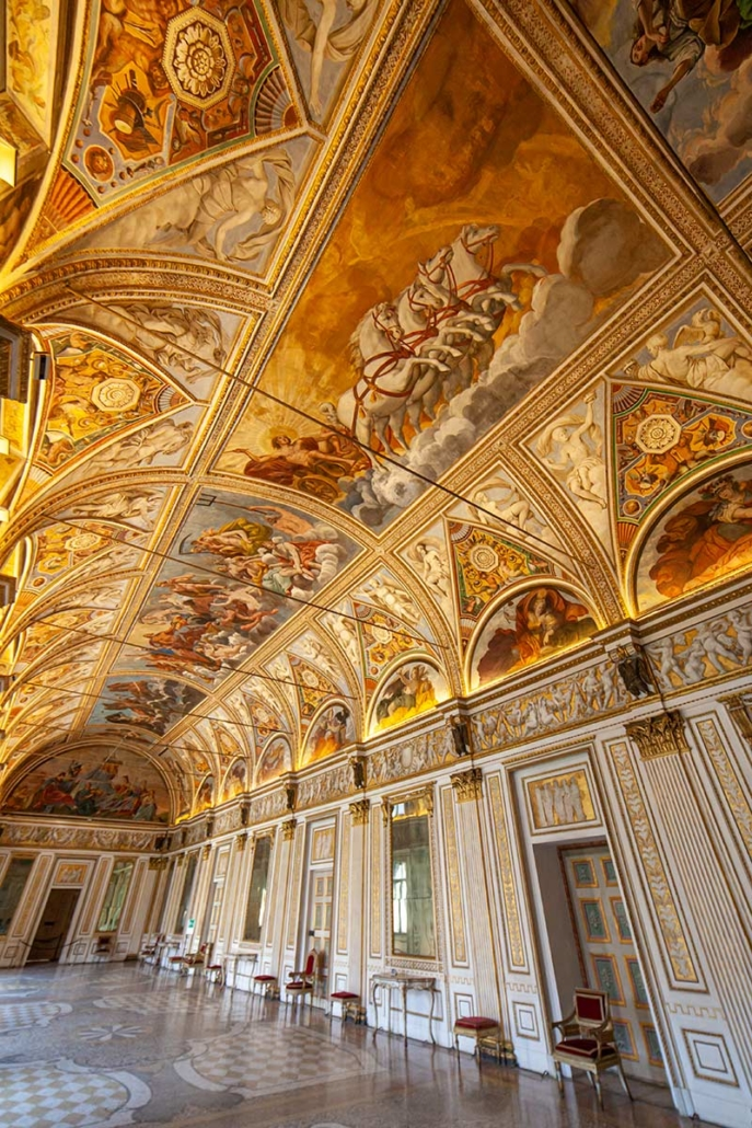 Gold and painted ceilings in the gran Palace Te