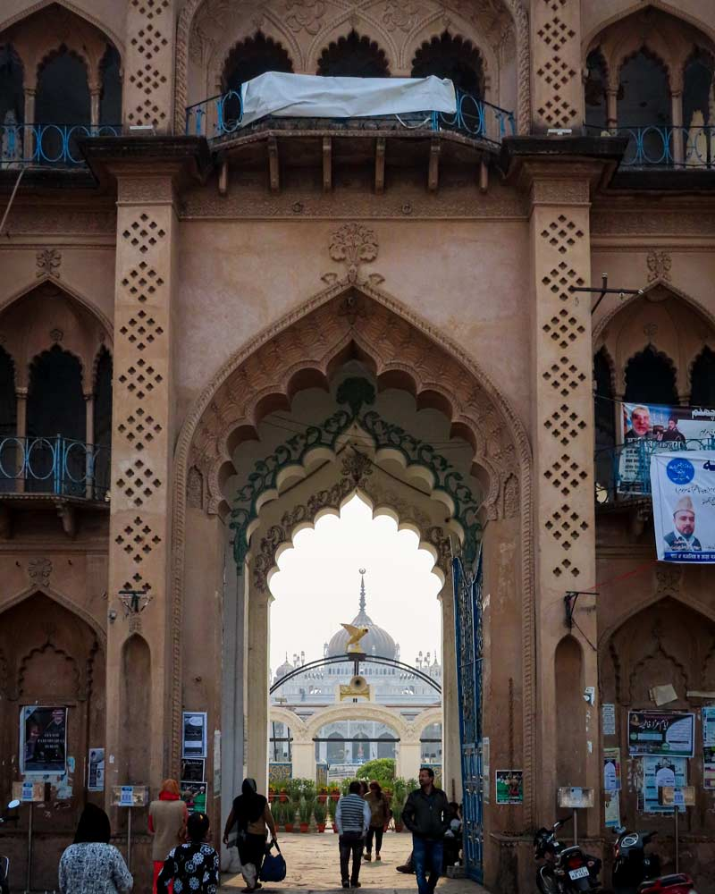 Architectural doorway in Lucknow India with an ornate design