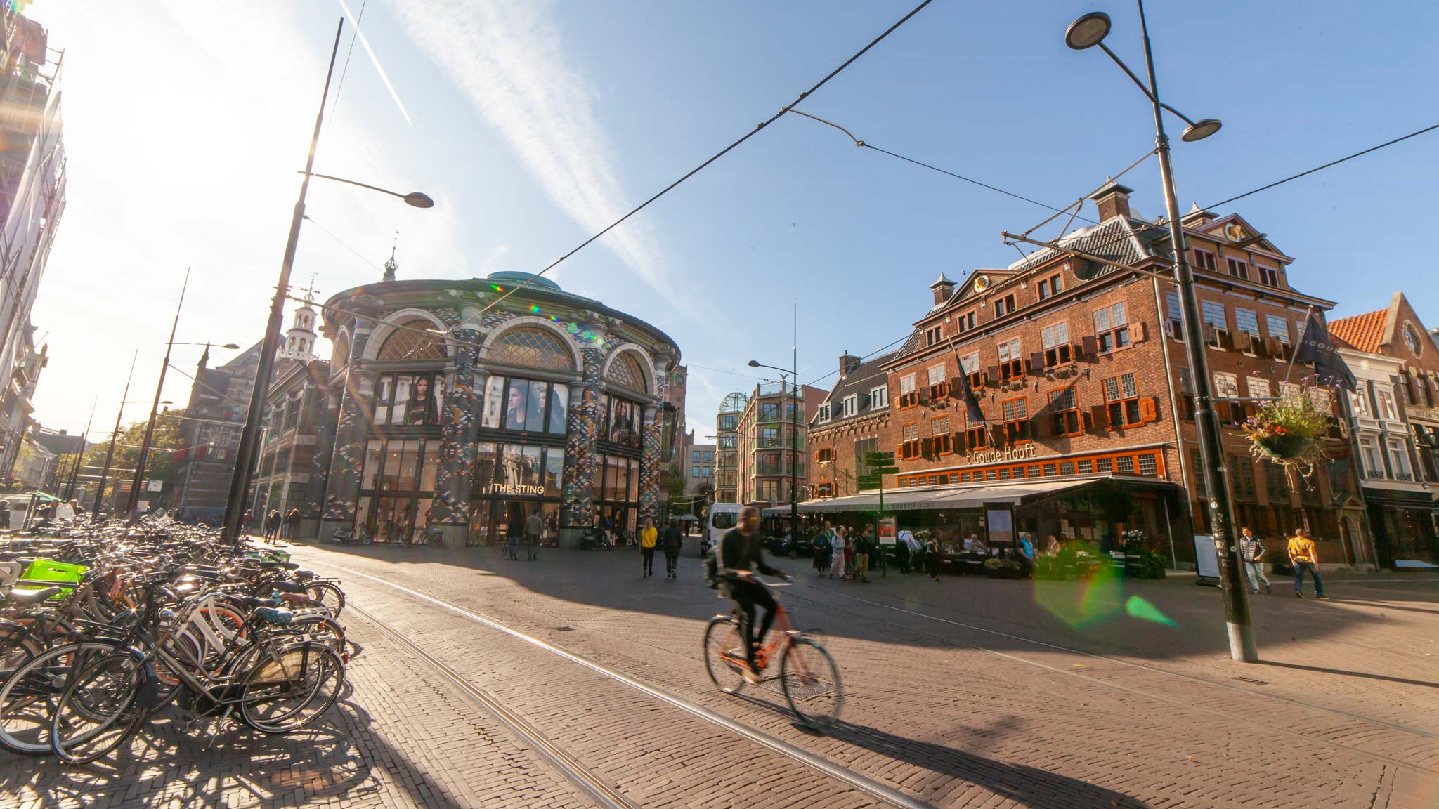 A street scene in The Hague city centre