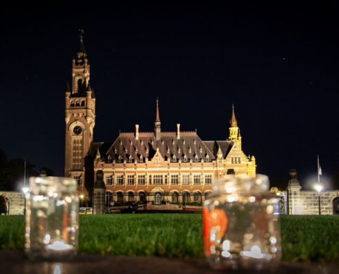 The Peace Palace at night