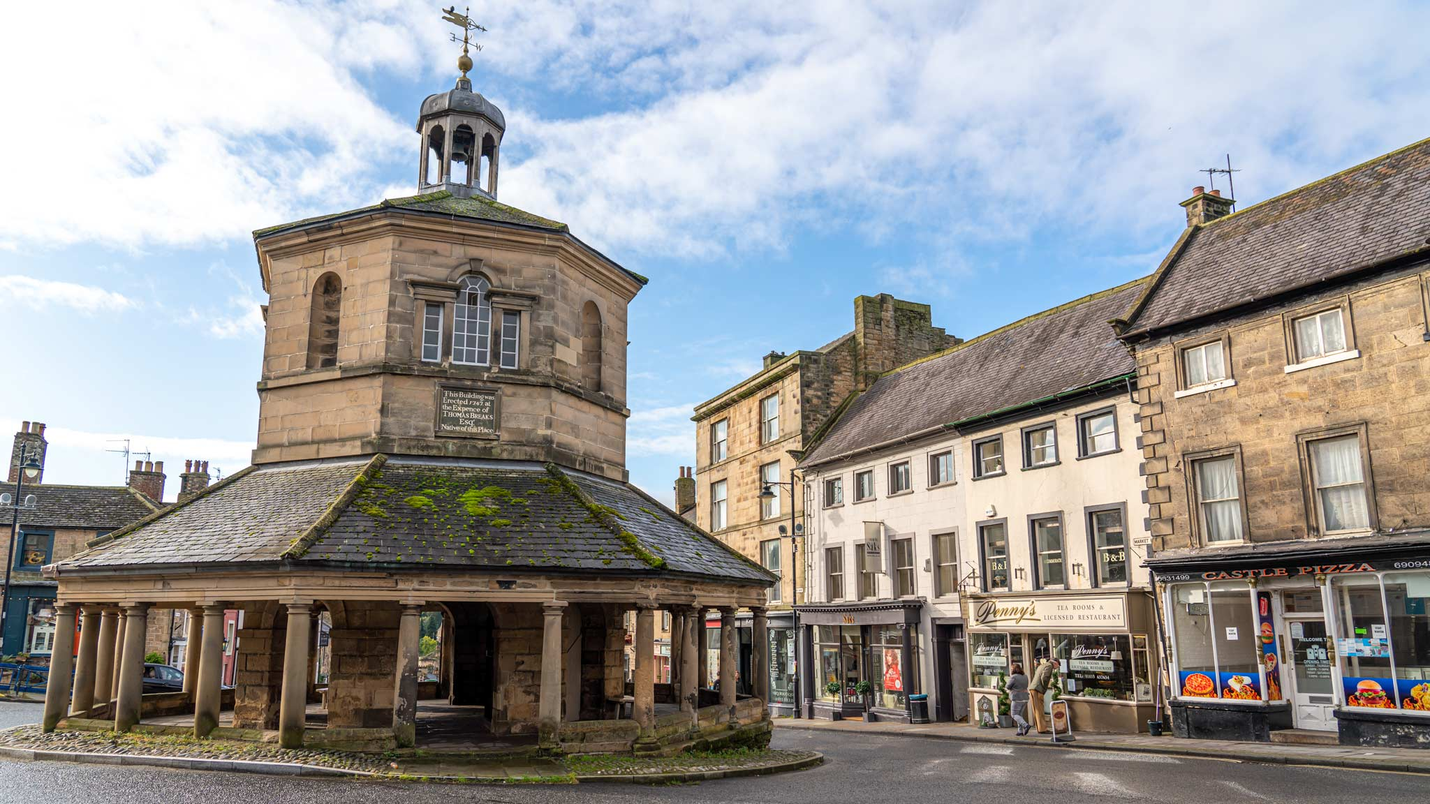 The market town of Barnard Castle