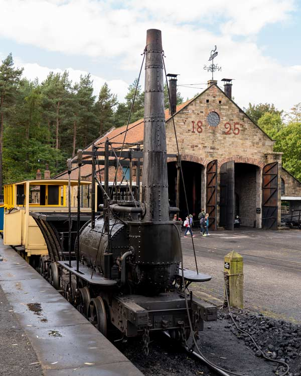 The old steam rail train at Beamish Museum