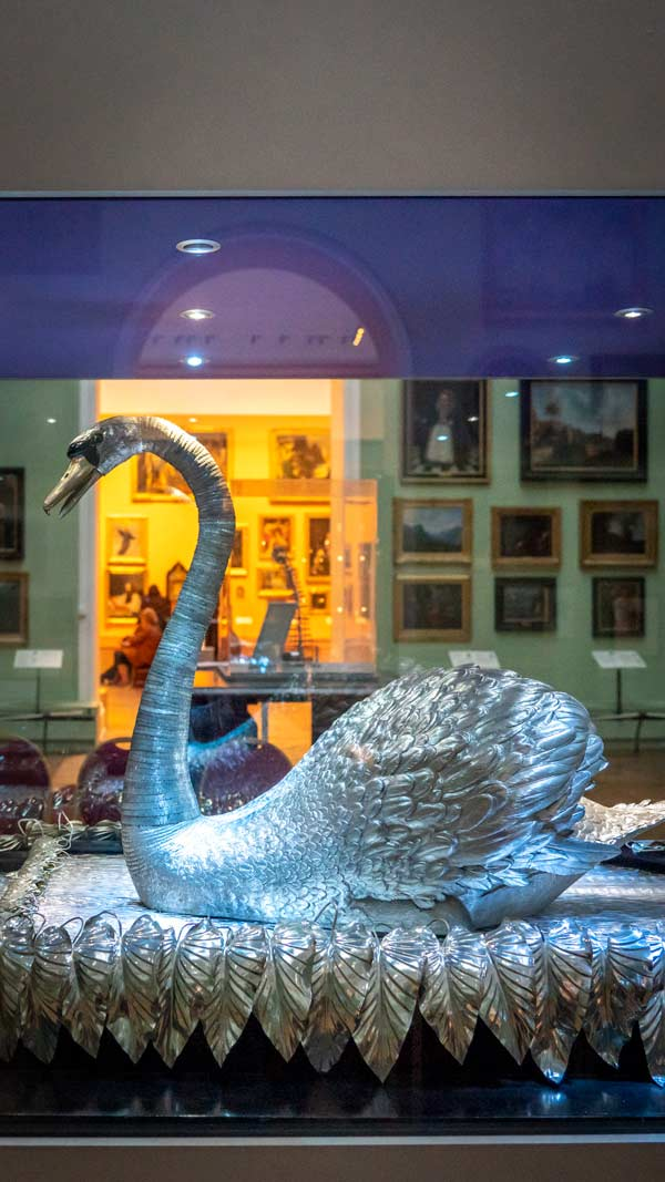 Silver Swan at the Bowes Museum