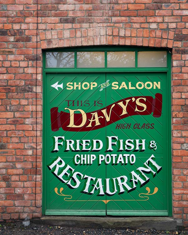 A fish and chip shop in Beamish Museum Durham