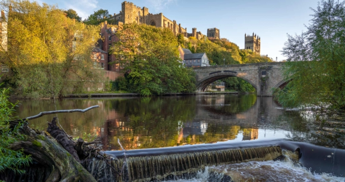 Durham Castle as seen from the riverside