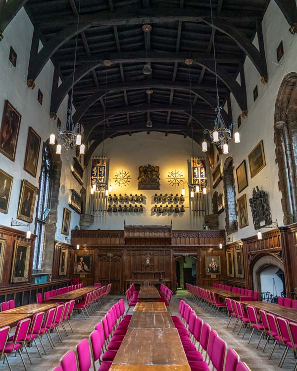 The Great Hall inside the Durham Castle