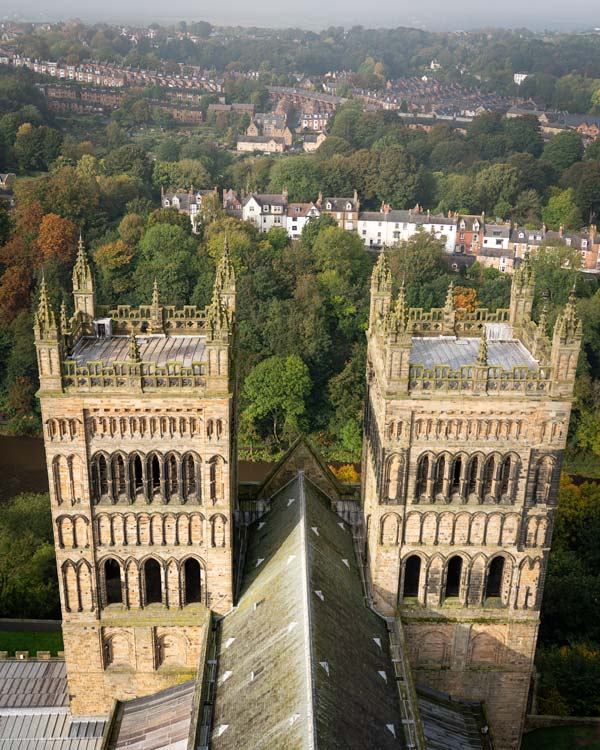Views of the cathedral from Durham Tower