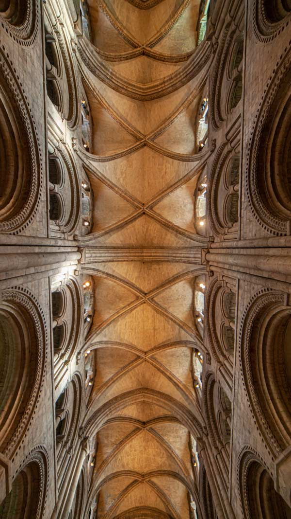 The roof of Durham Cathedral