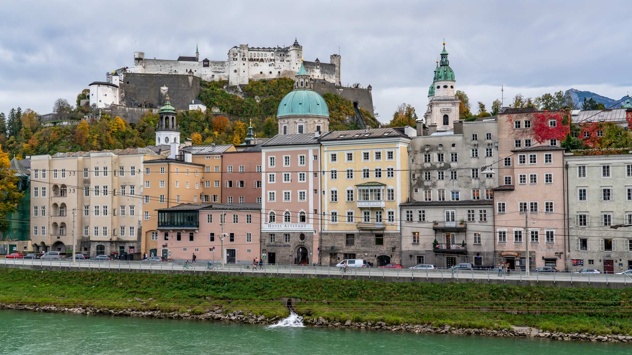 The Fortress dominates Salzburg's centre