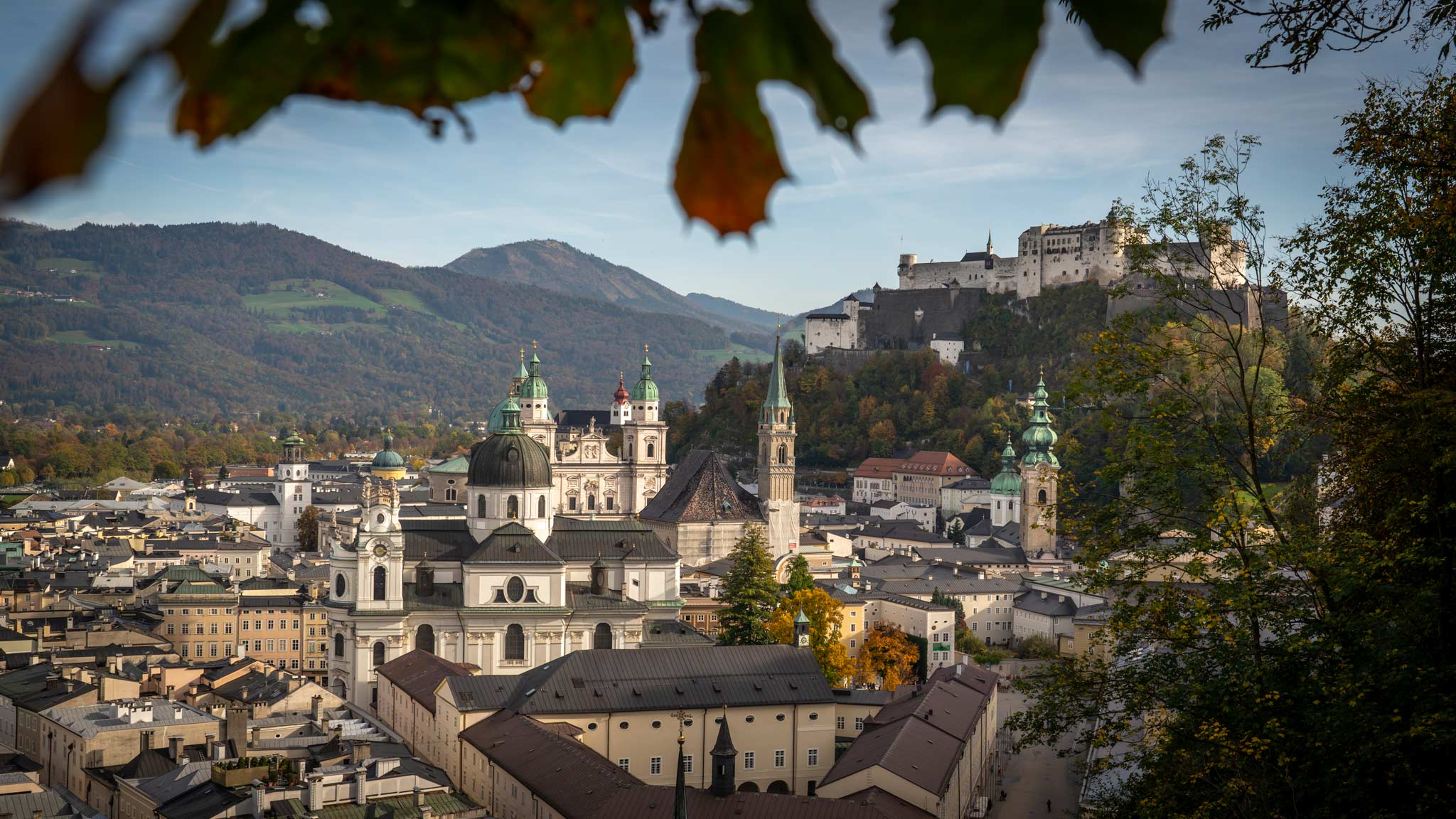 A panoramic view of Salzburg from the modern museum