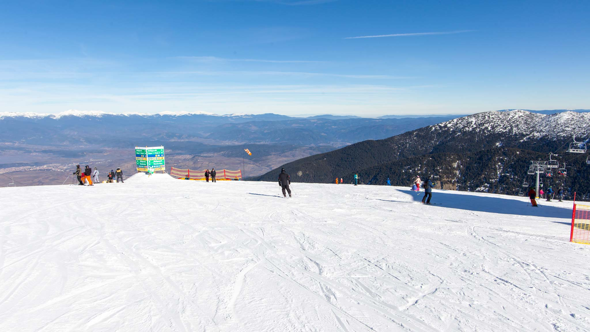 From the top of the mountain at Bansko Ski Resort
