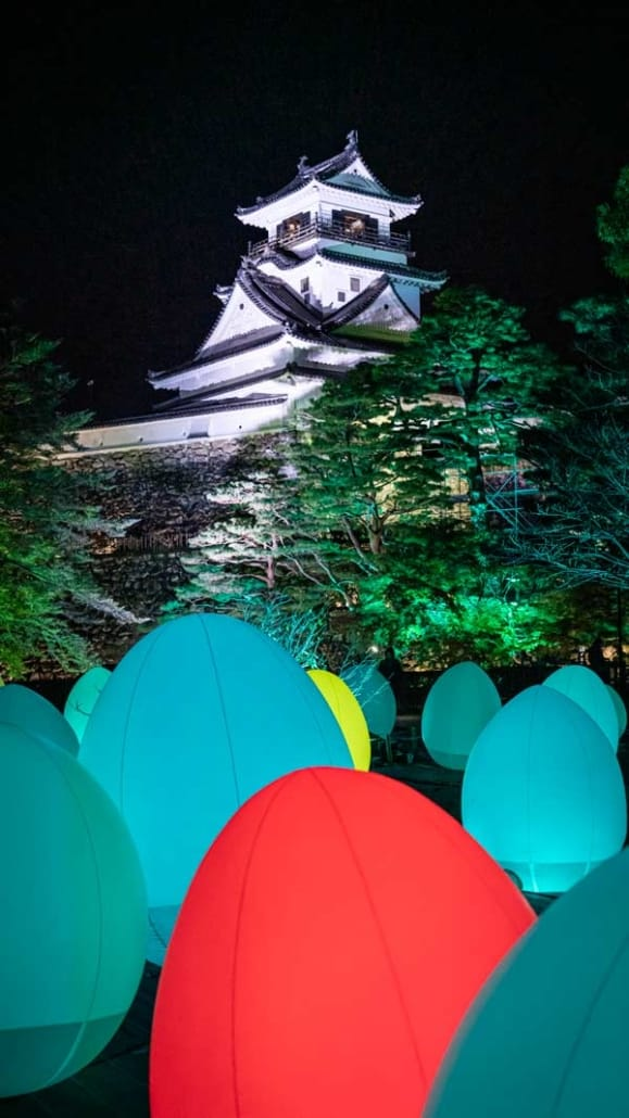 Kochi Castle Illuminated at teamLab