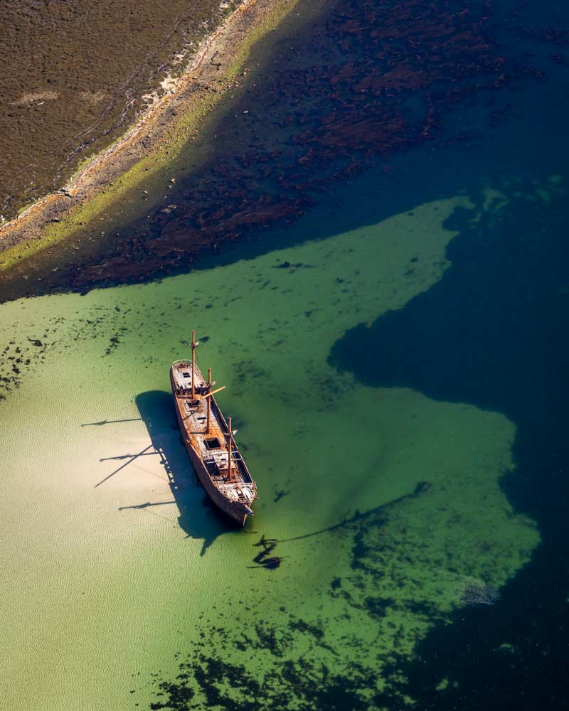 Lady Liz - a shipwreck in Stanley Harbour