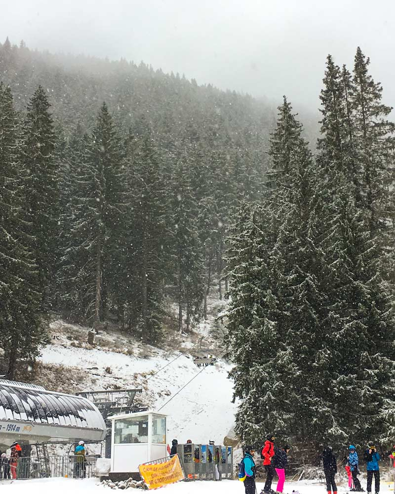 A snowy day in Bansko Bulgaria