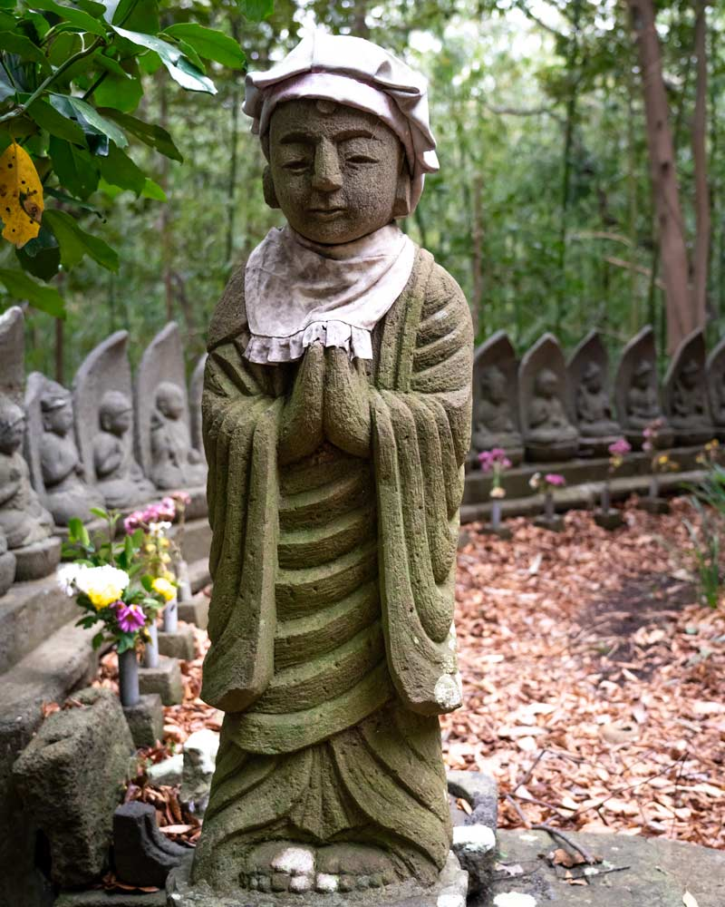 A buddha and main little statues at the cave temple by the hotel