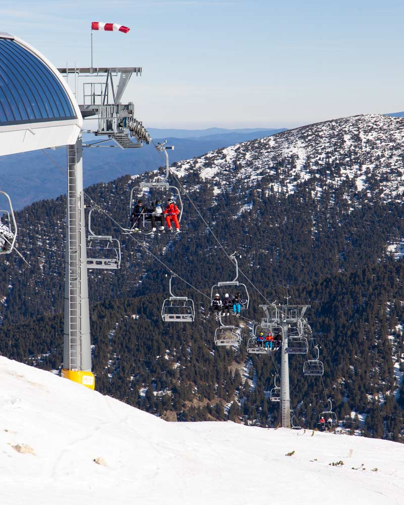 Ski lifts at Bansko Ski Resort Bulgaria