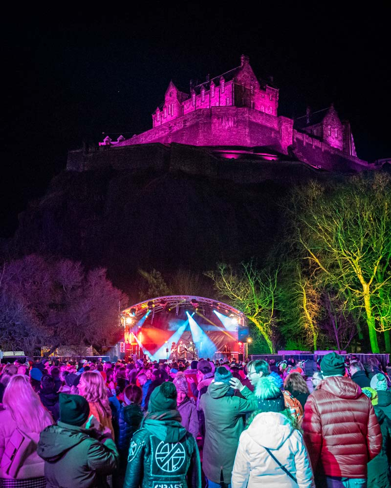 The party under the castle at Edinburghs Hogmanay