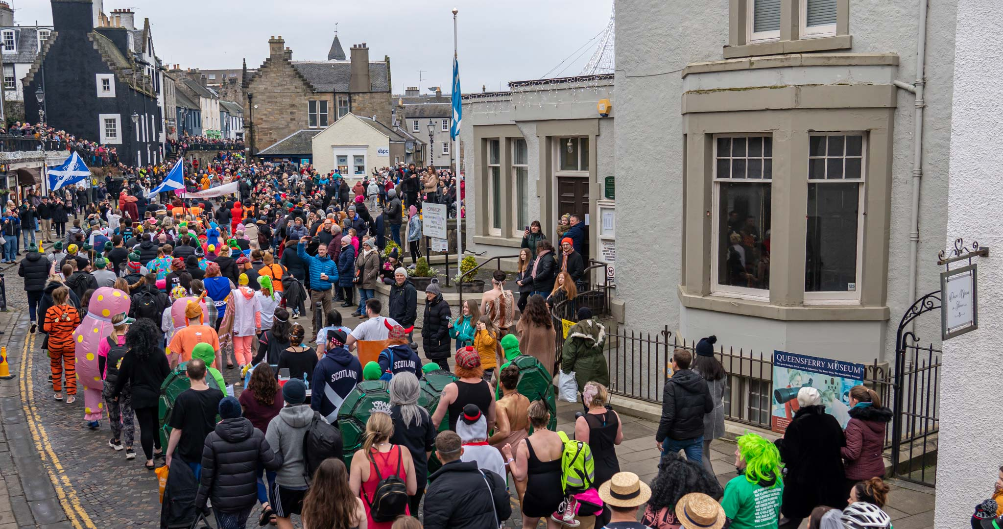 The Loony Dook takes place on the beautiful streets of South Queensferry