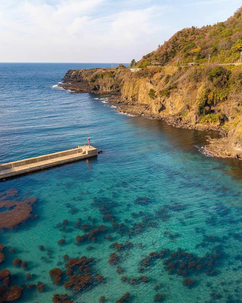 beach of sado island