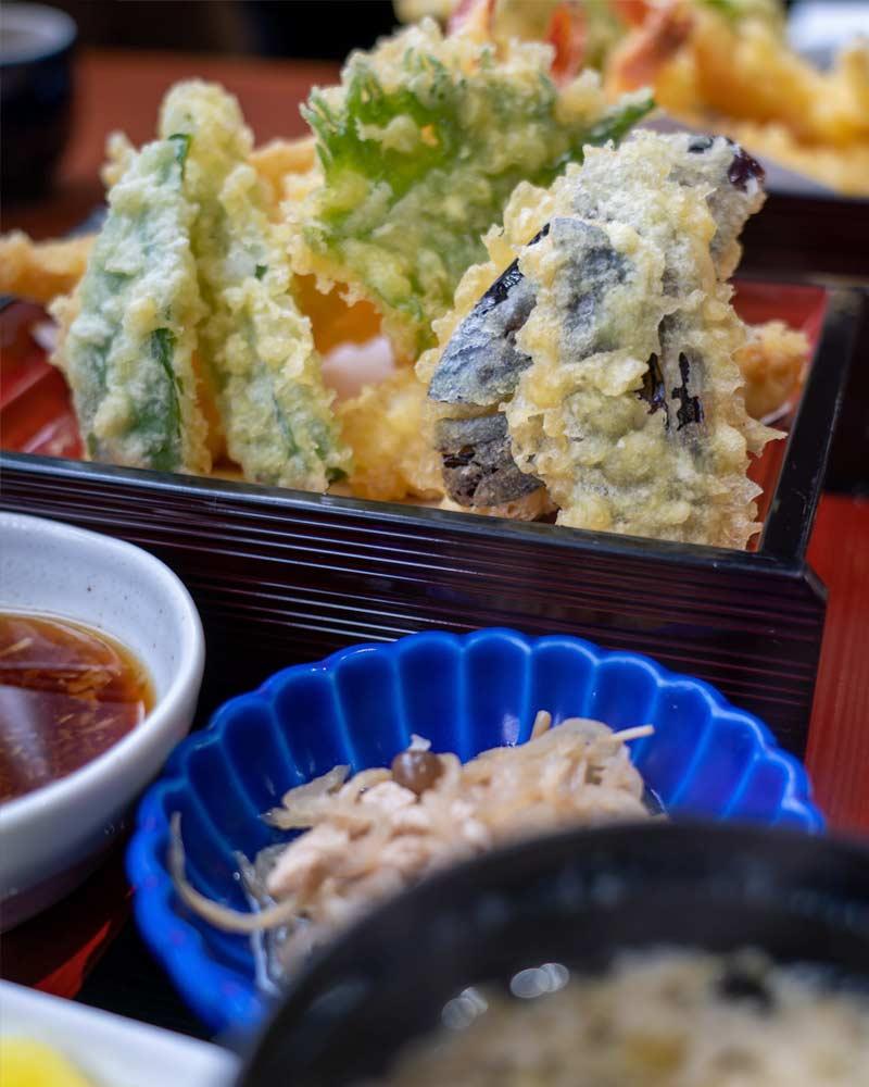 A tempura dish in Sado Island