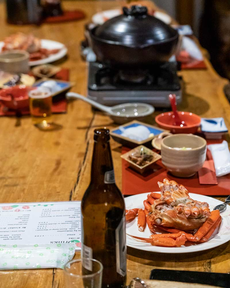 Crab is a local speciality and was served at the hotel