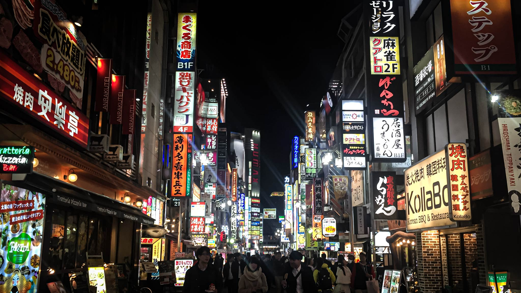 Exploring the bright lights of Tokyo