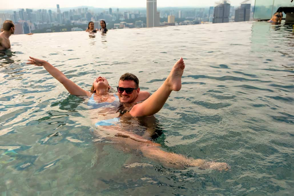 Not getting the instagram shot on top of Marina Bay Sands