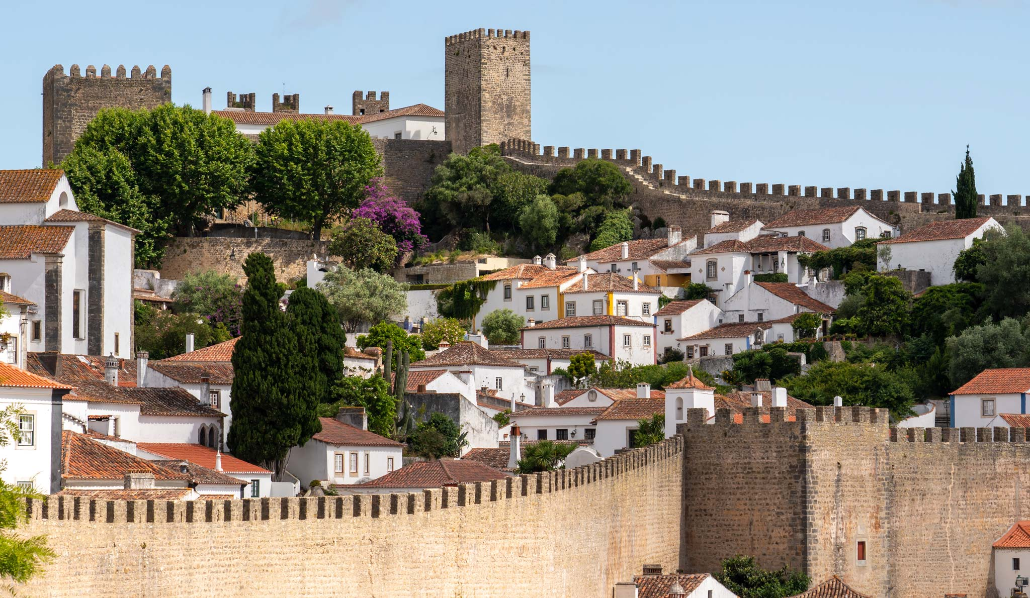 Popular tourist sights like Obidos were basically empty when I visited in June