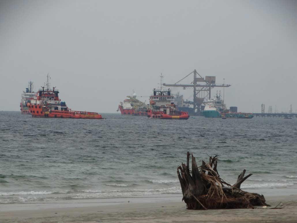 Labuan port in the distance - photo credit Harry Mitsidis