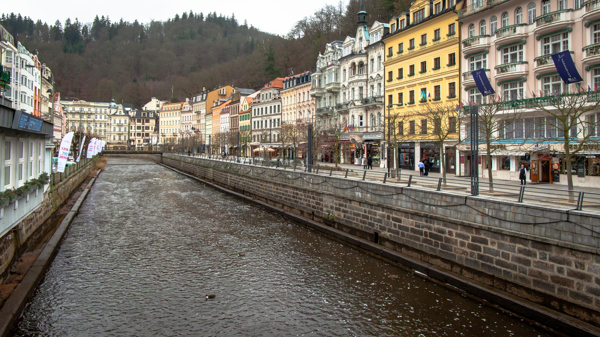 The Tepla river running through Karlovy Vary