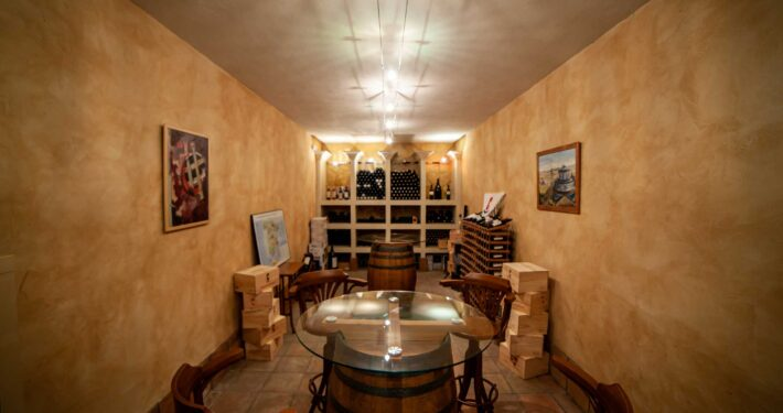 A wine tasting room in Murcia Spain