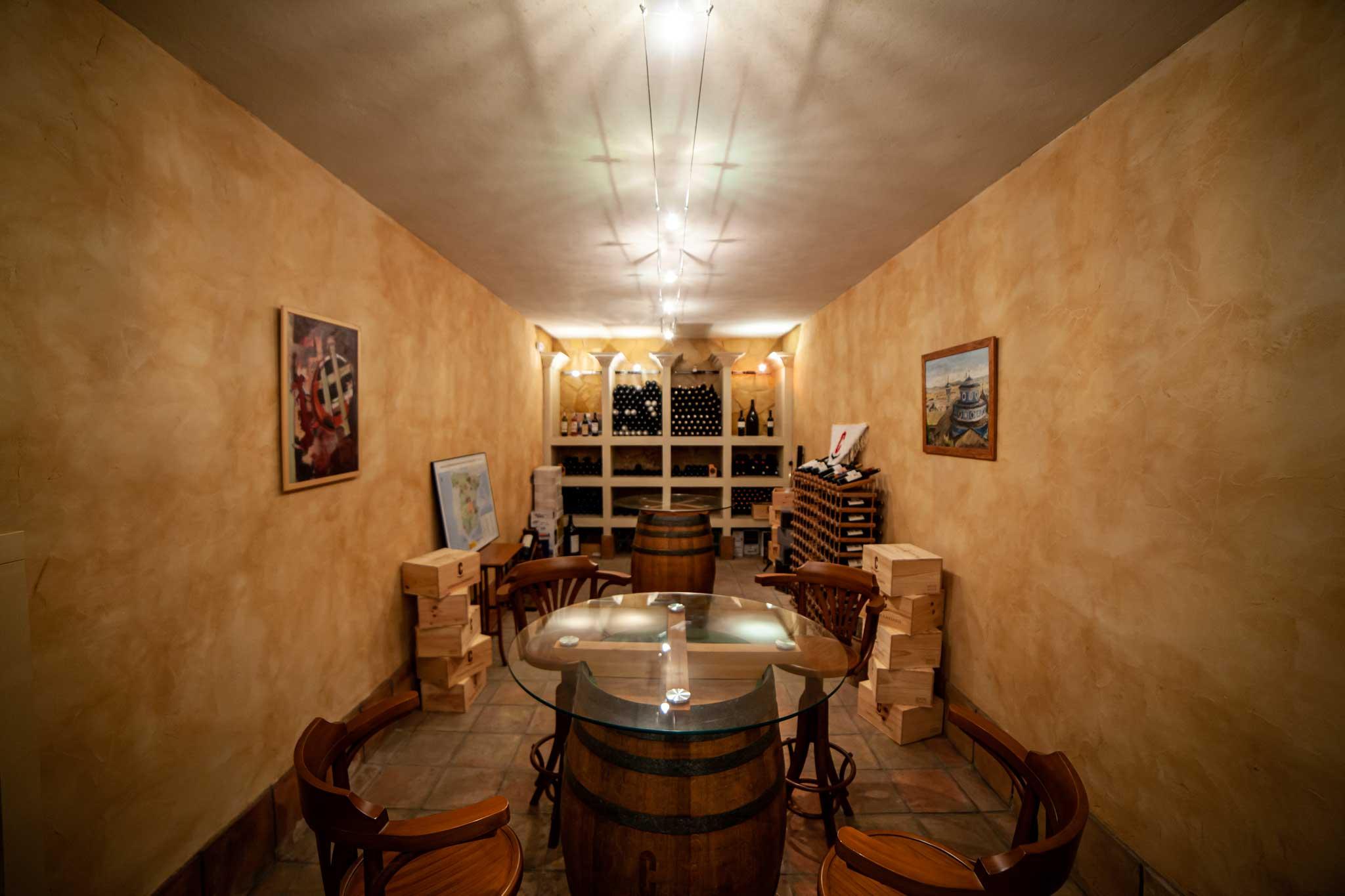 A wine tasting room in Murcia Spain