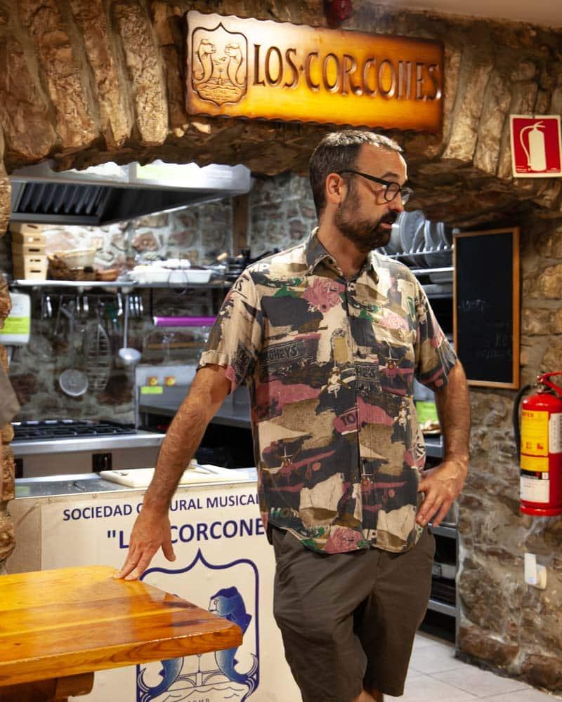 A chef inside a private cooking club in San Sebastian