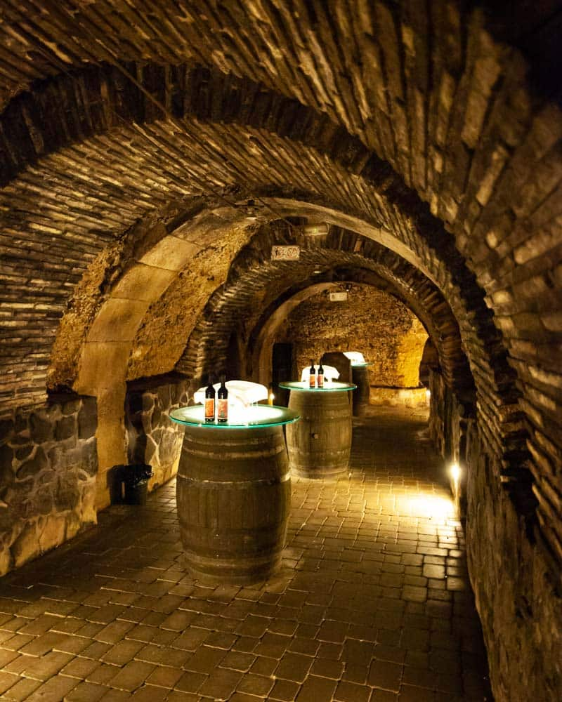 A wine cellar in Laguardia