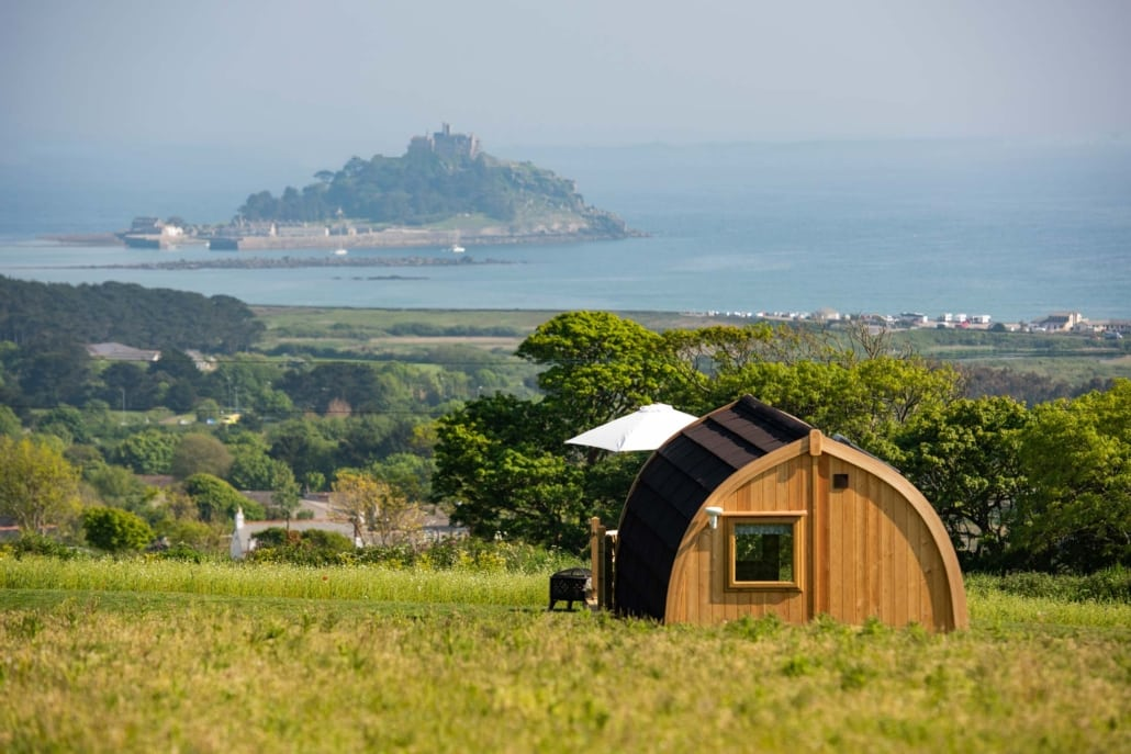 Camping pod with a view